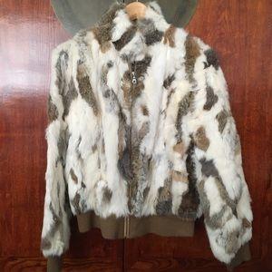 Wilson's Leather Rabbit Fur Jacket